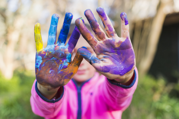 Awesome Kids' Garden Projects: Spend More Time with Your Kids finger paint