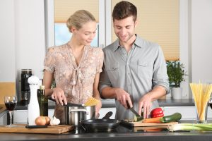 cooking together as Valentines Day Ideas
