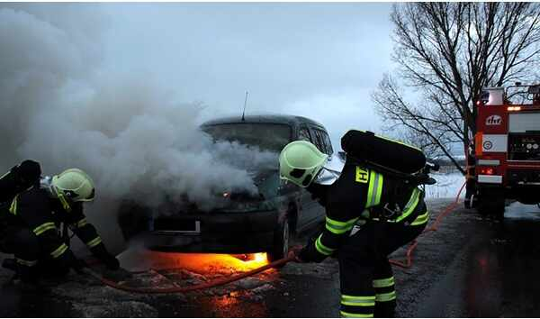 Burn injuries after a car accident